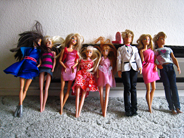 I am bemused by the number of Barbie dolls that have invaded my home.
